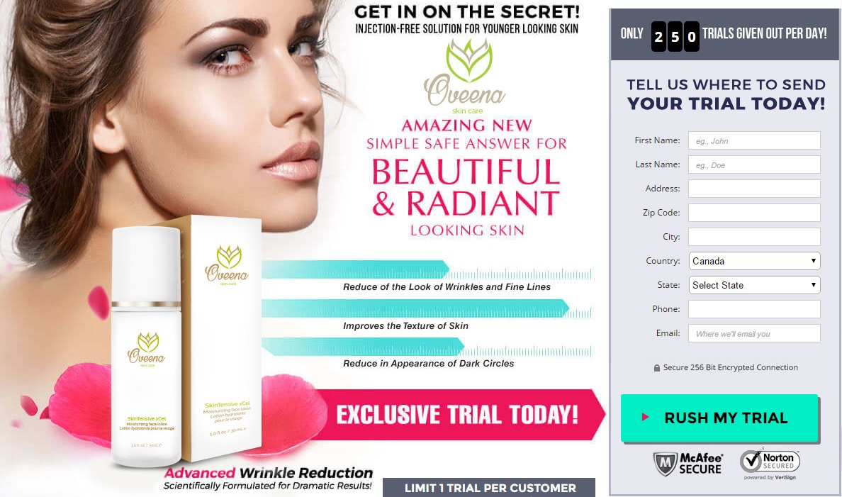 Oveena Skin Care Reviews: Clinically Tested Anti Aging Formula, Free Trial